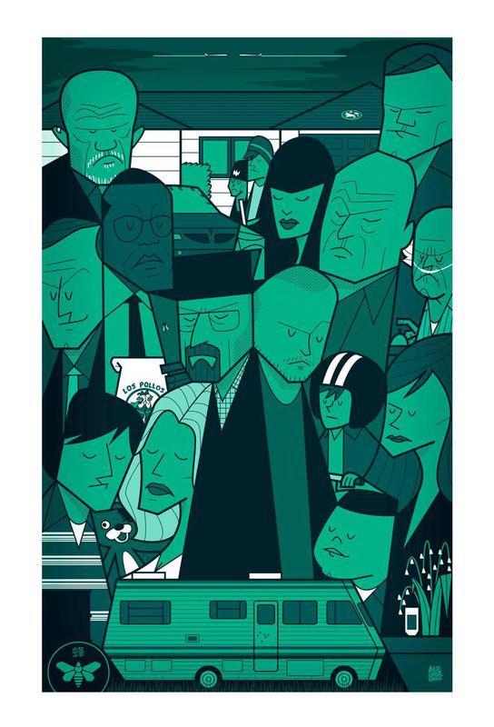 I'm the one who knocks - green version acrylglas print