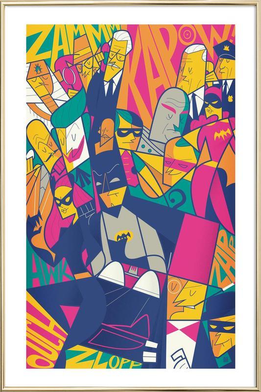 Batman -Poster im Alurahmen