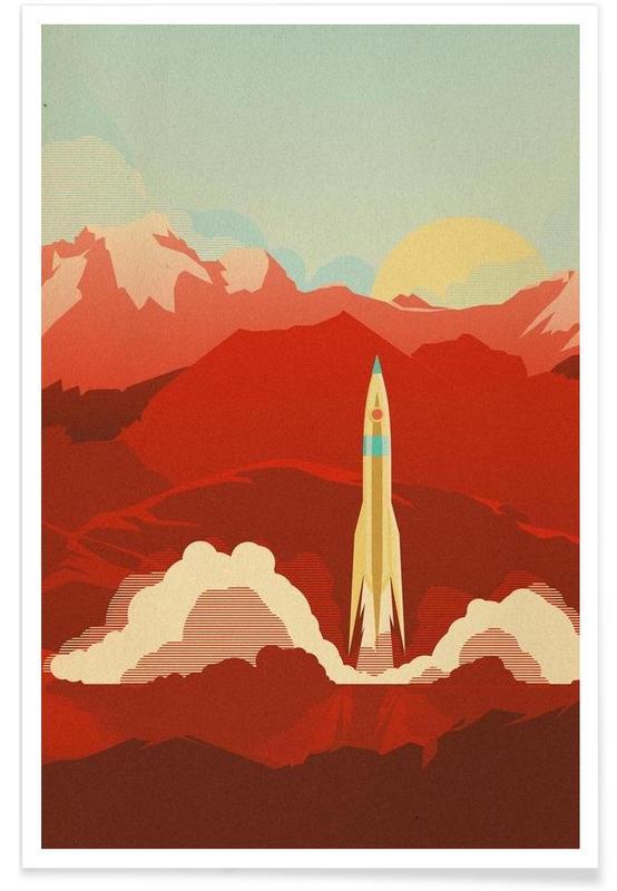 Art pour enfants, Fusées et vaisseaux spatiaux, The Uncharted affiche