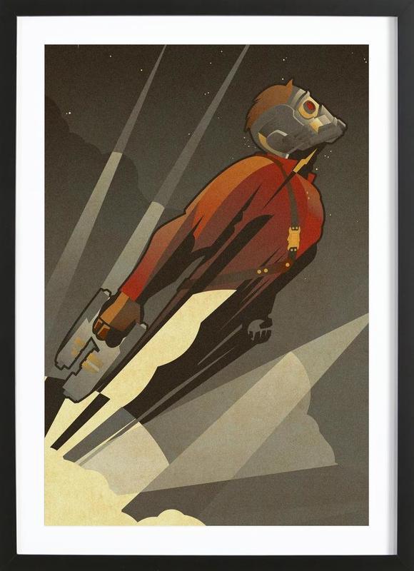 The Starlord -Bild mit Holzrahmen