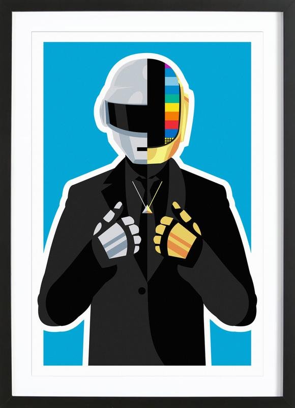 Daft Punk ingelijste print