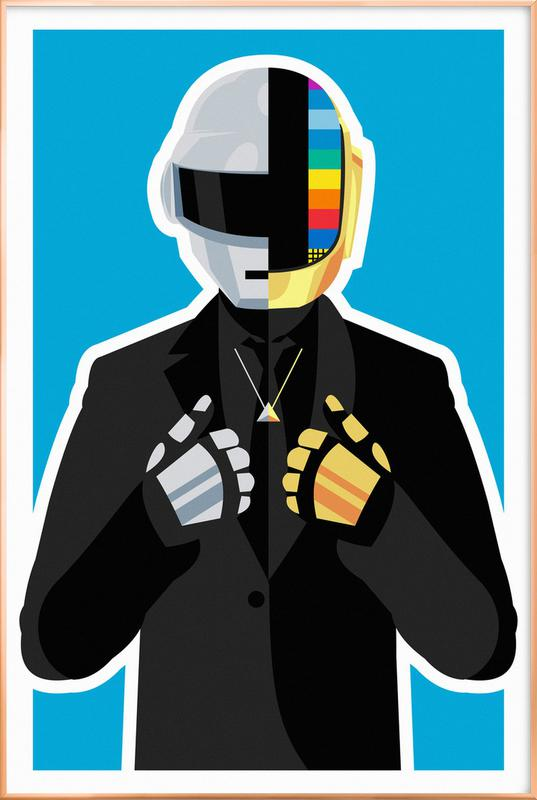 Daft Punk -Poster im Alurahmen
