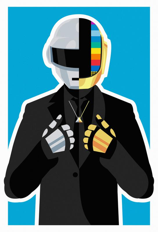Daft Punk alu dibond