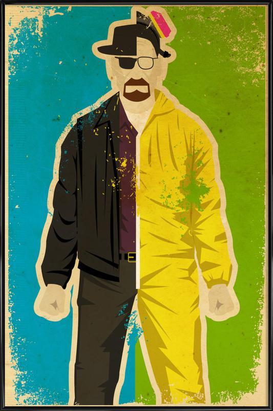 Heisenberg ingelijste poster