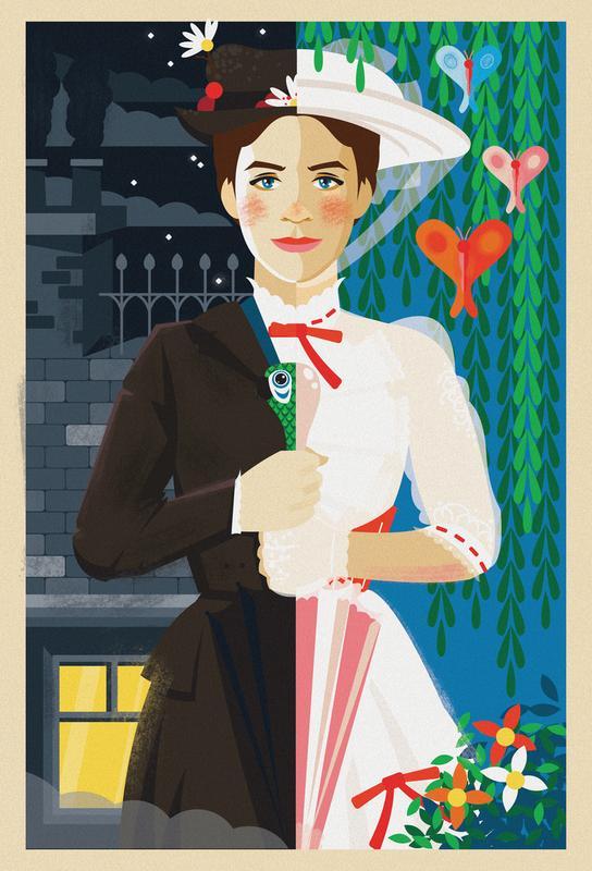 Mary Poppins Aluminium Print