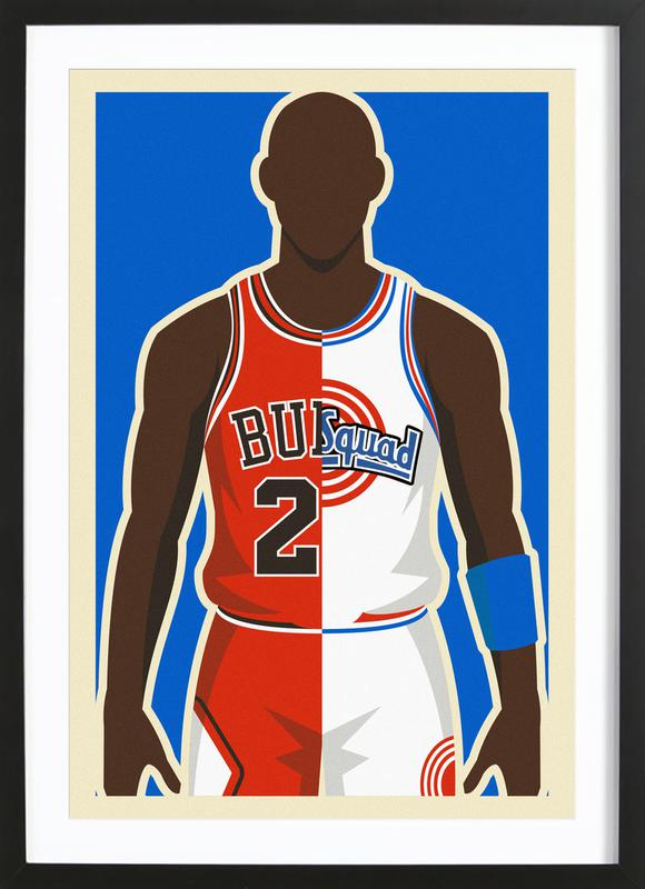 MJ Space Jam Framed Print