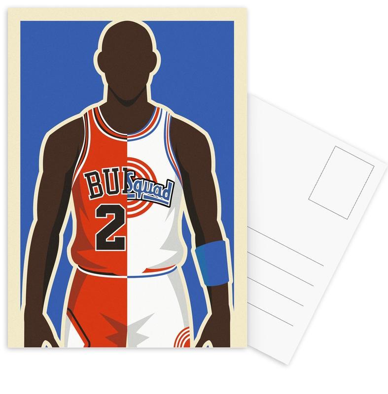 MJ Space Jam Postcard Set