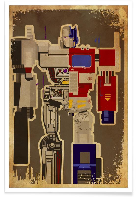 Art pour enfants, Optimus Mega affiche