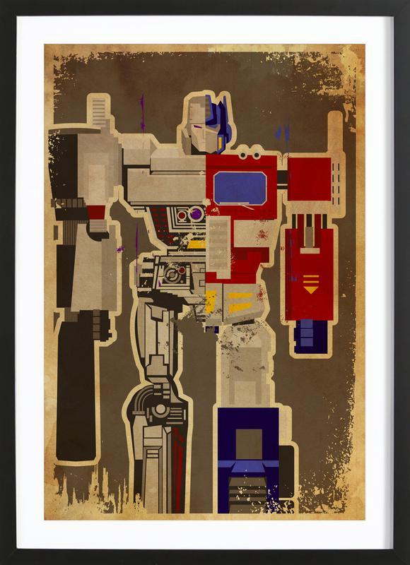 Optimus Mega ingelijste print