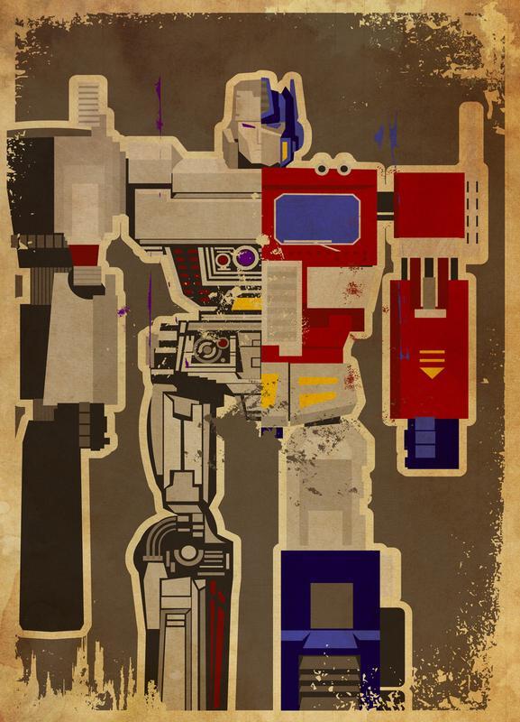 Optimus Mega canvas doek