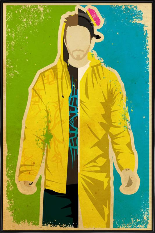Pinkman -Bild mit Kunststoffrahmen