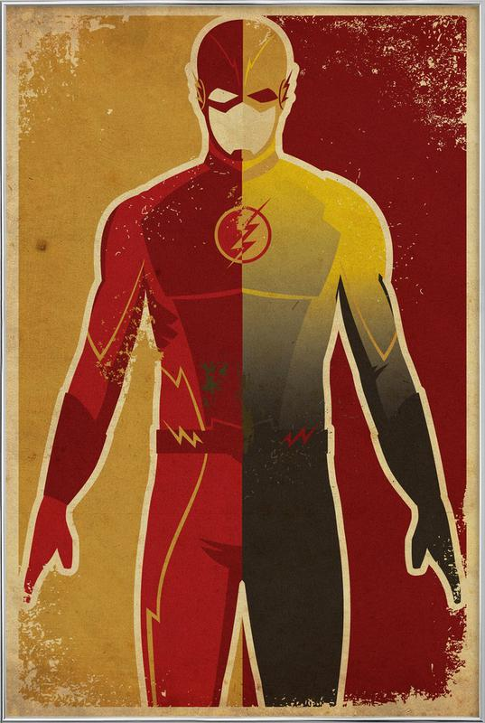The Flash poster in aluminium lijst