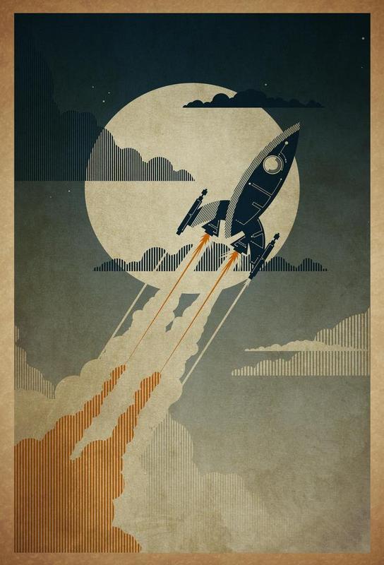 Night Launch Acrylic Print
