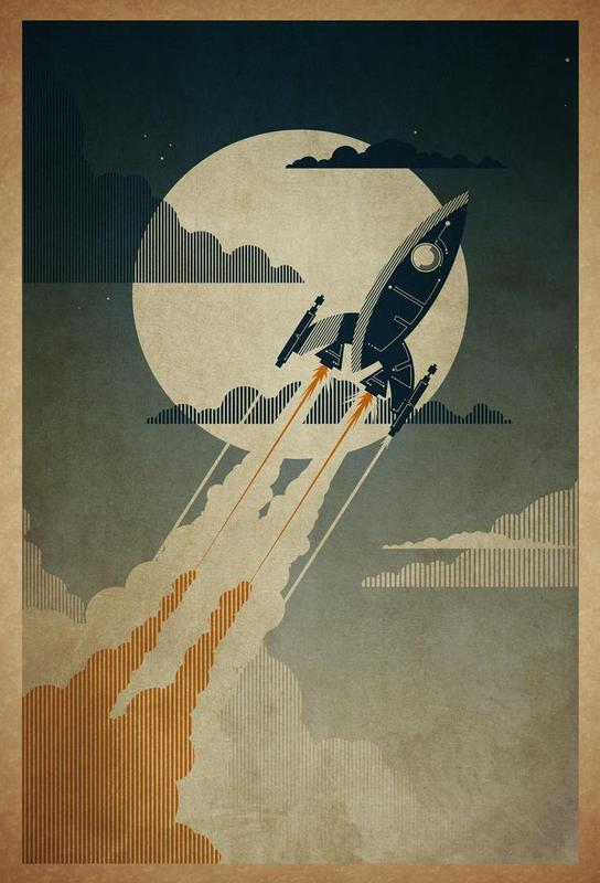 Night Launch -Alubild