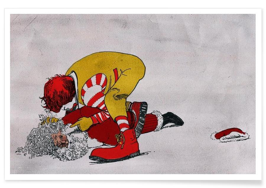 Humour, Ronald vs Santa affiche