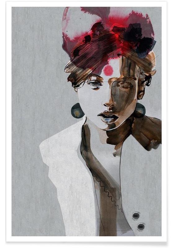 Illustrations de mode, IndianGrace affiche