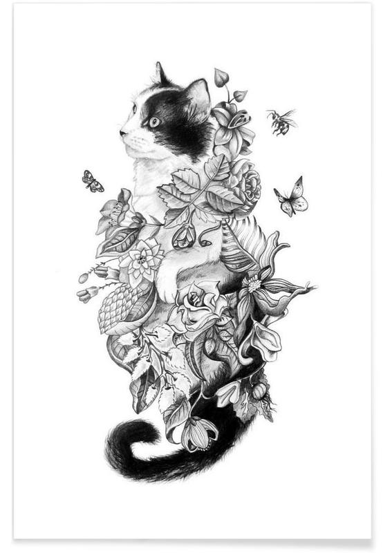 Botanical Cat affiche