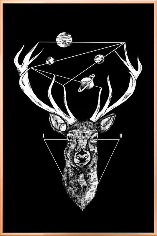 Deer poster in aluminium lijst