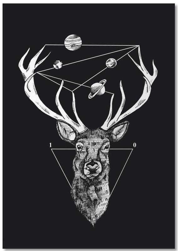 Noir & blanc, Cerfs, Deer Notebook