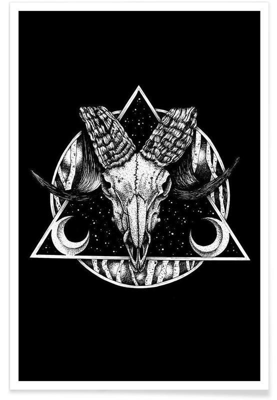 Noir & blanc, Crânes, Goat affiche