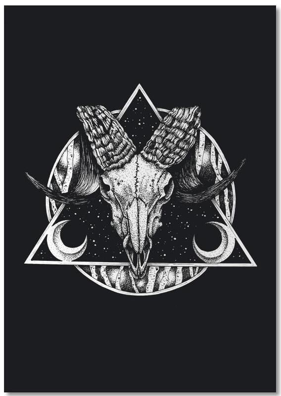Schwarz & Weiß, Totenköpfe, Goat -Notizblock
