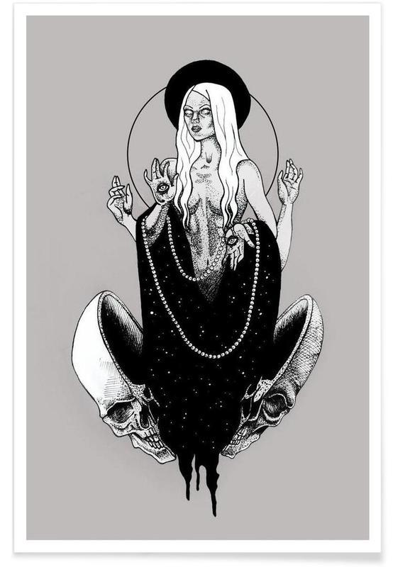 Noir & blanc, Crânes, Goddess affiche