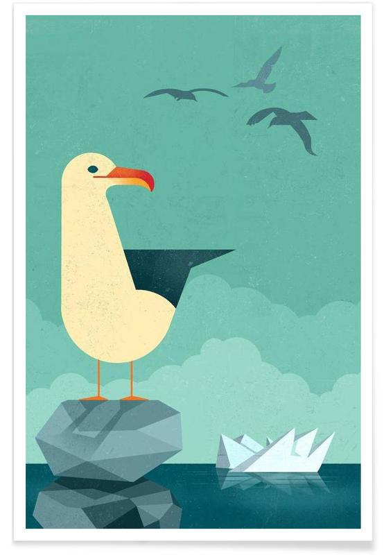 Vintage Seagull Poster