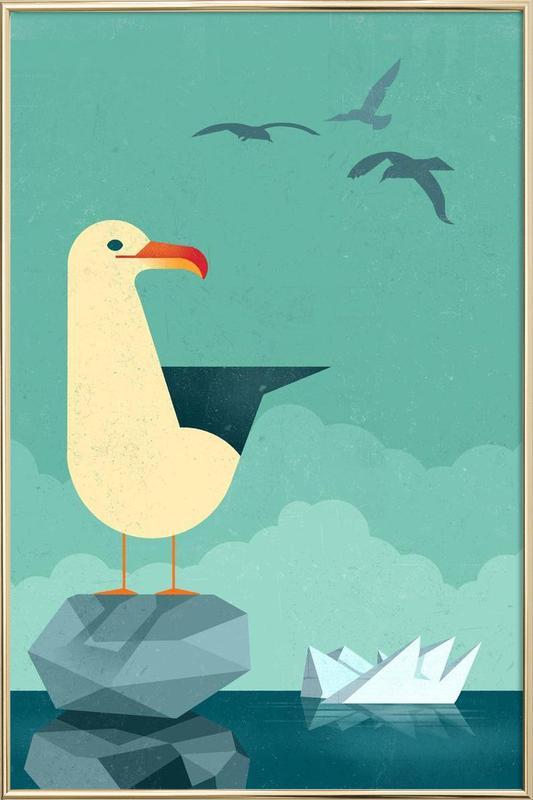 Seagull poster in aluminium lijst