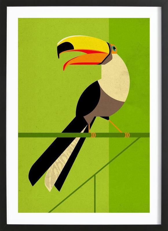 Toucan -Bild mit Holzrahmen