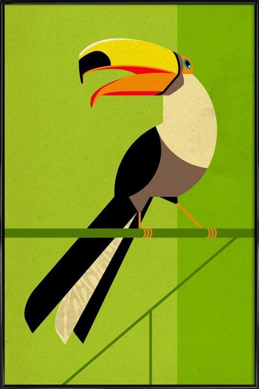 Toucan -Bild mit Kunststoffrahmen