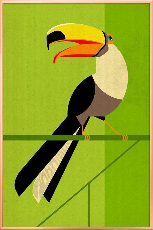 Toucan -Poster im Alurahmen