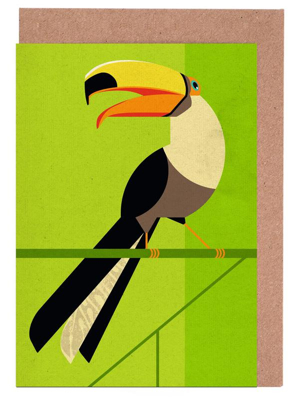 Toucan -Grußkarten-Set