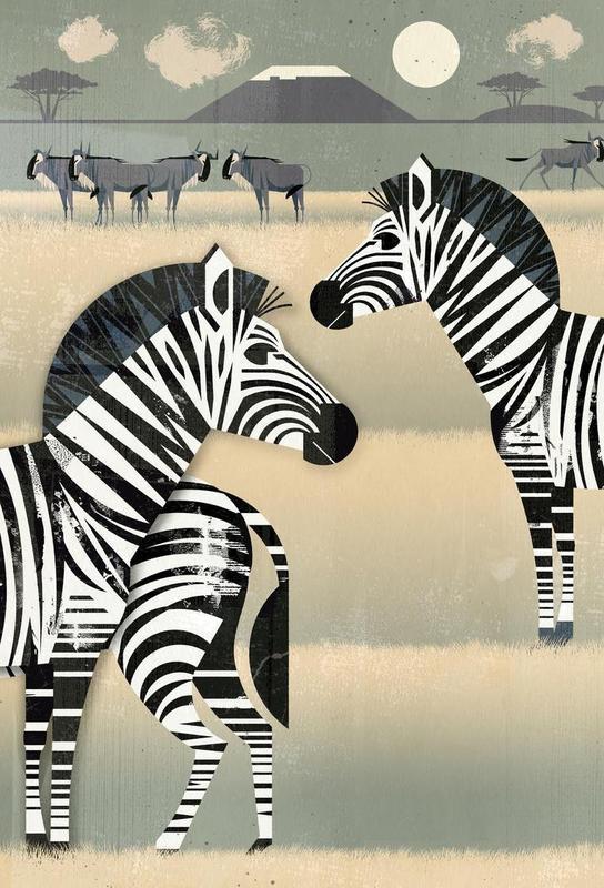 Zebra Aluminium Print
