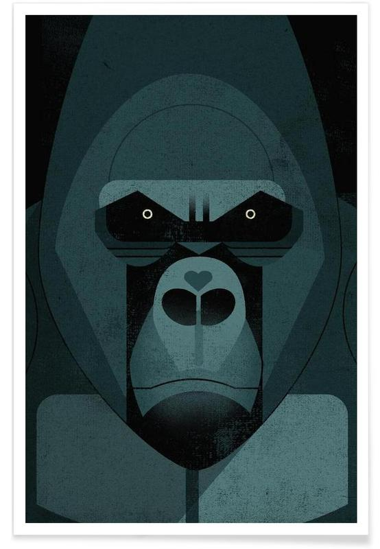 Vintage-Gorilla -Poster