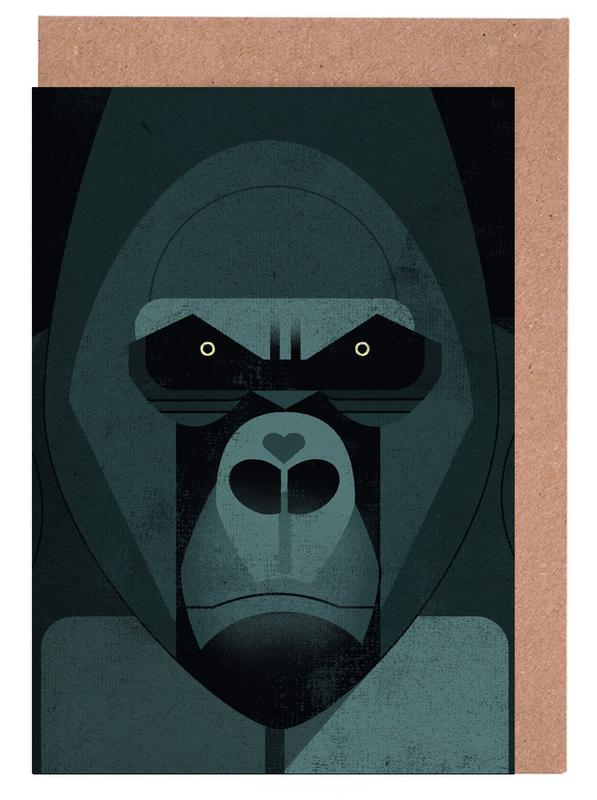 Gorilla Greeting Card Set