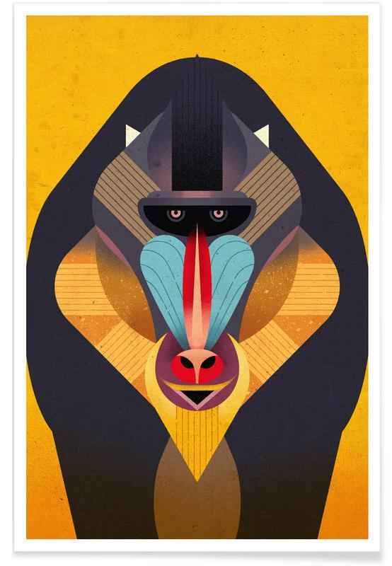 Vintage-Mandrill -Poster