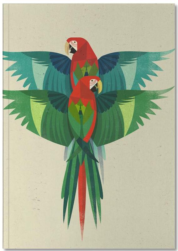 Retro, Parrots, Ara Notebook