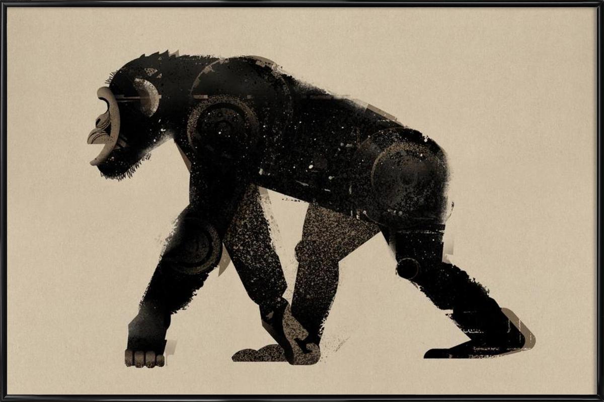 Chimp Framed Poster