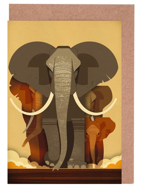 Elephants Greeting Card Set