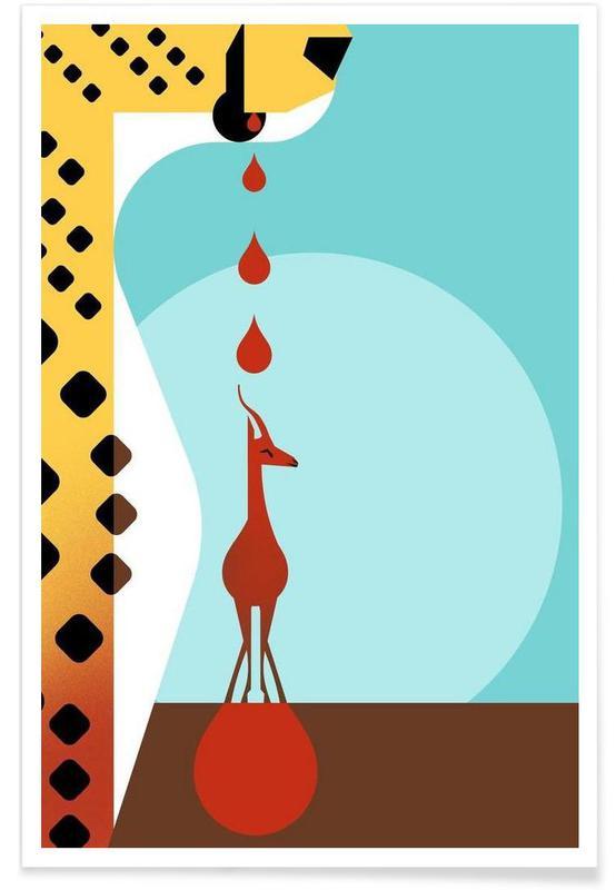 Geparder, Vintage Cheetah Plakat