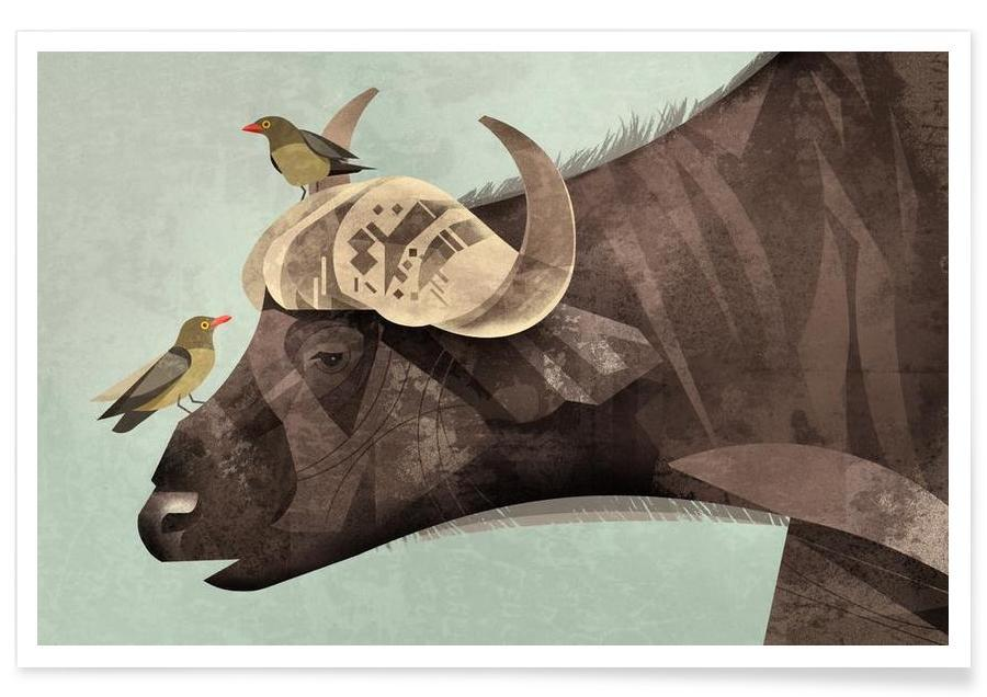 Buffalos, Vintage Buffalo Poster