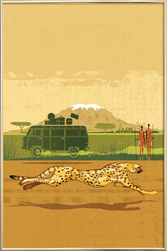 Cheetah 2 Poster in Aluminium Frame