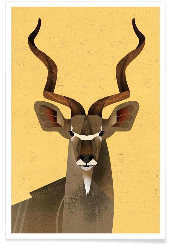 , Großer Kudu Poster