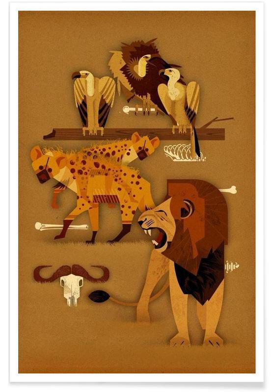 , Vintage Predators Poster