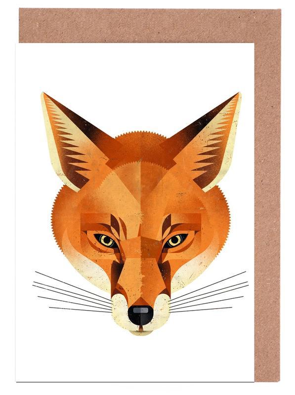 Fuchs -Grußkarten-Set