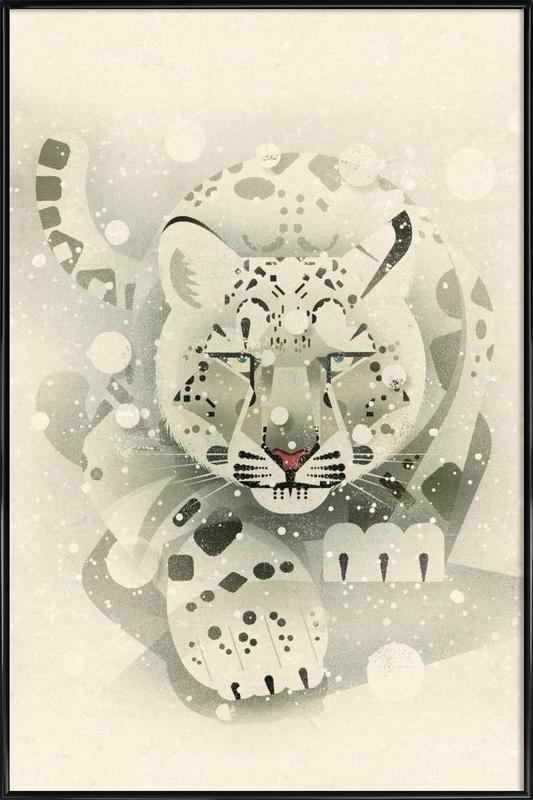 Schneeleopard Framed Poster