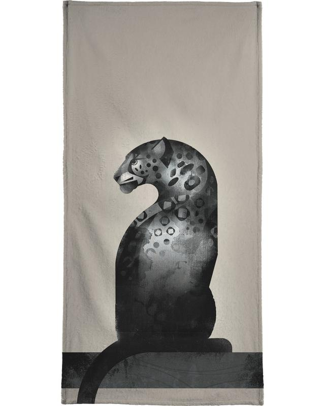Schwarz & Weiß, Jaguare, Jaguar 02 -Handtuch