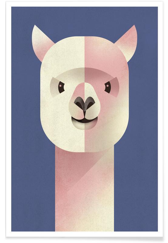 , Vintage Alpaca Poster
