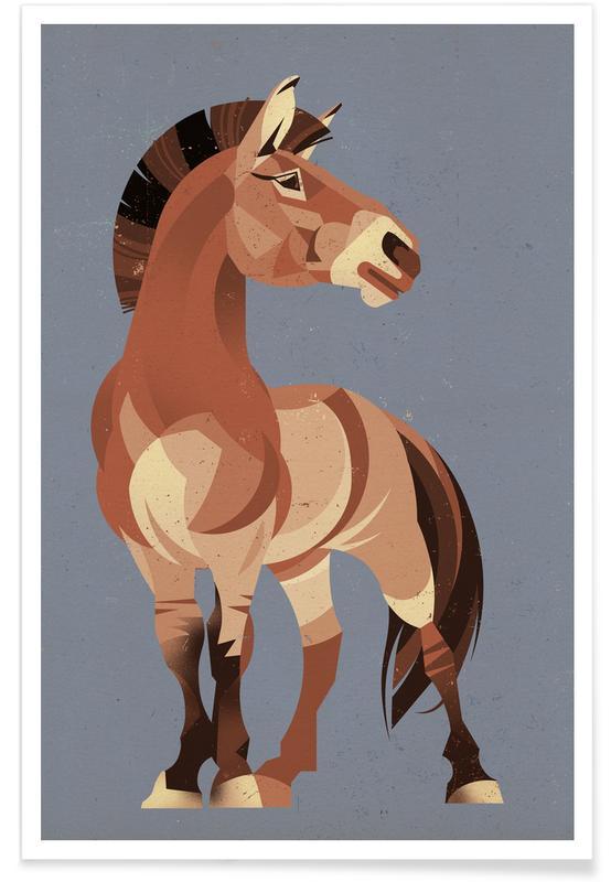 Horses, Vintage Horse Poster