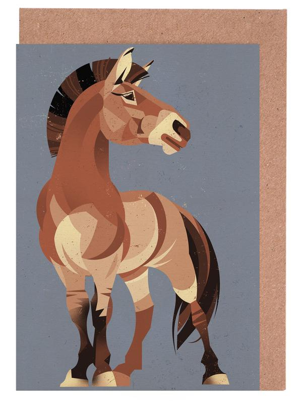 Pferde, Horse -Grußkarten-Set